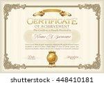 certificate of achievement...   Shutterstock .eps vector #448410181