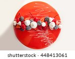 modern french mousse cake with... | Shutterstock . vector #448413061