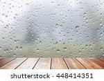 wood table top on drop of water | Shutterstock . vector #448414351