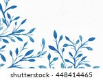 Watercolor Background. Flower...