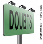 doubts or second thoughts ... | Shutterstock . vector #448414801