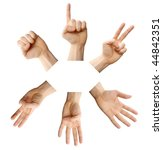 a photo of counting hands with... | Shutterstock . vector #44842351