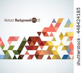 awesome stylish geometric... | Shutterstock .eps vector #448424185