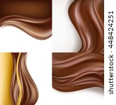 creamy chocolate on white... | Shutterstock .eps vector #448424251
