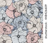 floral seamless pattern. dog... | Shutterstock .eps vector #448426609