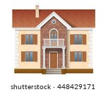 a two story residential house... | Shutterstock .eps vector #448429171