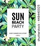 bright hawaiian design with... | Shutterstock . vector #448440325