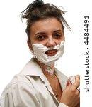 woman shaving   Shutterstock . vector #4484491