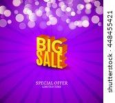 big sale 3d letters poster.... | Shutterstock .eps vector #448455421