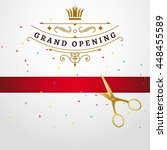 grand opening design template... | Shutterstock .eps vector #448455589