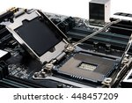 new  motherboard to build a... | Shutterstock . vector #448457209