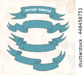 set different ribbons on a... | Shutterstock .eps vector #448458751