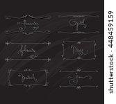 vector set  handwritten...   Shutterstock .eps vector #448459159