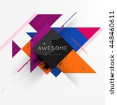 geometric vector background.... | Shutterstock .eps vector #448460611