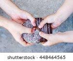 children's hands holding a... | Shutterstock . vector #448464565