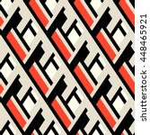 vector geometric seamless...   Shutterstock .eps vector #448465921
