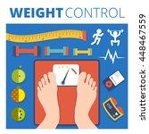 weight control vector...   Shutterstock .eps vector #448467559