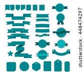 blue ribbons set | Shutterstock .eps vector #448474297
