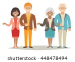 young and old appy family... | Shutterstock .eps vector #448478494