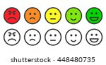 emoji icons  emoticons for rate ... | Shutterstock .eps vector #448480735
