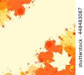 bright orange watercolor paint... | Shutterstock .eps vector #448483087
