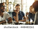 coffee shop cafe restaurant ... | Shutterstock . vector #448483261