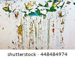 Grunge Wall With Cracks And...