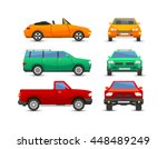 different car vehicle transport ... | Shutterstock .eps vector #448489249