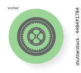 vector gear and cog   friction | Shutterstock .eps vector #448491784