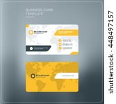 corporate business card print... | Shutterstock .eps vector #448497157