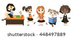 back to school illustration.... | Shutterstock .eps vector #448497889