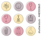collection of line style wine... | Shutterstock .eps vector #448500865