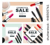 set of sale banners with makeup ... | Shutterstock .eps vector #448505761