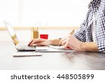 side view of young businessman... | Shutterstock . vector #448505899