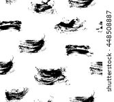 black and white sketch seamless ... | Shutterstock .eps vector #448508887