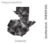 guatemala map in geometric... | Shutterstock .eps vector #448509181