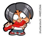 vector naughty boy | Shutterstock .eps vector #44851066