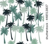seamless pattern with palm...   Shutterstock .eps vector #448513837