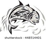 tribal art style illustration... | Shutterstock . vector #448514401