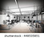 sketch design of interior... | Shutterstock . vector #448535851