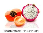 fresh fruit and healthy life | Shutterstock . vector #448544284