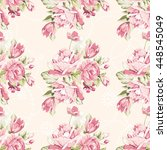 seamless floral pattern with... | Shutterstock .eps vector #448545049