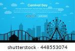 the concept banner amusement... | Shutterstock .eps vector #448553074