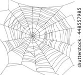 abstract drawing of a spiderweb ... | Shutterstock .eps vector #448557985