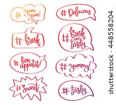 set of quotes icons in bubble... | Shutterstock .eps vector #448558204