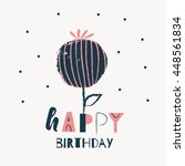 happy birthday card design.... | Shutterstock .eps vector #448561834
