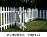 Inviting White Picket Fence...