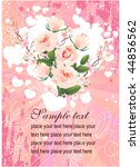floral greeting card | Shutterstock .eps vector #44856562