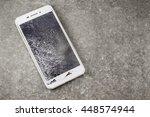 mobile touch screen is broken ...   Shutterstock . vector #448574944