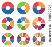 set of circle chart isolated in ... | Shutterstock .eps vector #448577704